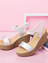 Women's Sandals Spring / Summer Basic Pump PU Dress / Casual Stiletto Heel Others Silver / Gold Others