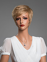 Unique Short Straight Capless Wig With Bangs Human Hair 10 Inch