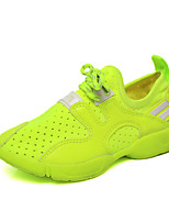 Boy's Flats Spring / Fall Comfort / Round Toe PU Casual Flat Heel Others / Lace-up Green / White Walking