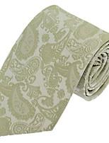 Cravate Vintage / Soirée / Travail / Décontracté Polyester,Homme Rayé,Gris Toutes les Saisons