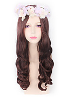Fashion Wigs Brown Color Afro Women Synthetic Wigs