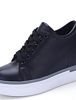 Men's Sneakers Wedges / Comfort Casual Wedge Heel Lace-up Black / White Others