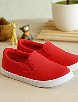 Unisex Flats Summer Canvas Casual Flat Heel Others Black Red White Other
