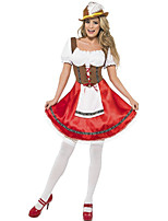 Costumes More Costumes Halloween / Oktoberfest Red / White Patchwork Terylene Dress / More Accessories