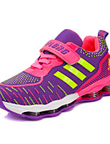 Girl's Flats Spring / Summer / Fall / Winter Comfort Fabric Athletic Flat Heel Lace-up Purple Walking