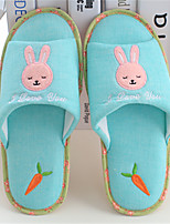 Unisex Slippers & Flip-Flops Spring / Summer / Fall Comfort Cotton Casual Flat Heel Others Blue / Pink / Coffee Others