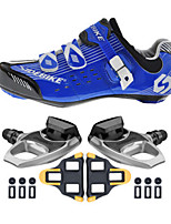 SD003 Cycling Shoes Unisex Outdoor / Road Bike Sneakers Damping / Cushioning Blue-sidebike And R540 Rock Pedals
