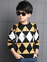 Boy's Casual/Daily Houndstooth Sweater & CardiganCotton Winter Red / Yellow