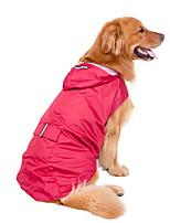 Cani Impermeabile-Inverno / Estate / Primavera/Autunno-Impermeabili / Vacanze / Sportivo / Antivento Tinta unita-Rosso / Blu scuro- di