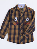Boy's Casual/Daily Houndstooth ShirtCotton Fall Yellow