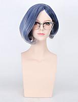 couleur bule femmes cosplay perruques synthétiques perruques de mode sans colle