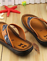 Men's Slippers & Flip-Flops Summer Flip Flops / Open Toe PVC Casual Flat Heel Bowknot Black / Brown Others