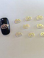 100 Safety  Halloween Series Silver Pumpkin Nail Art Act The Role Ofing Is Tasted Fashion