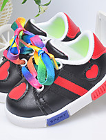 Boy's Sneakers Spring Fall PU Casual Flat Heel Lace-up Black Red White Other