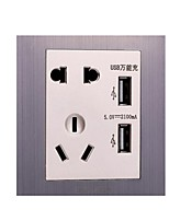 Belaunde A Fil Others USB switch socket Gris / Violet