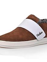 Heren Sneakers Herfst / Winter Ronde neus / Platte schoenen Weefsel Buiten / Kantoor & Werk / Informeel Platte hak OverigeZwart / Blauw /