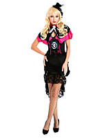 Costumes More Costumes Halloween Black Patchwork Terylene Dress / Shawl / Hats