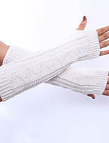 Women's Winter Warm Gloves Long Fingerless Knitted Hand Cuff