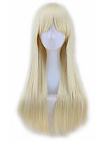 Beautiful Deep Burgundy Wigs Cosplay Pink Wig Long Hair Brown Straight Wig Blonde Women Heat Resistant