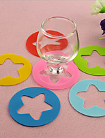 6pcs/set Silicone Cup Label Party Dedicated Red Wine Glass Silicone Recognizer Marker Wine Cup Accessories Random Color