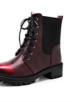 Красный / Серо-коричневый-Унисекс-На каждый день-Дерматин-На плоской подошве-С круглым носком / На плокой подошве-На плокой подошве