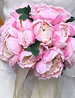 Wedding Flowers Round Peonies Bouquets Wedding Party/ Evening Satin 9.84