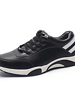 Черный Коричневый-Мужской-Для прогулок Для занятий спортом-Полиуретан-На плоской подошве-Удобная обувь-На плокой подошве