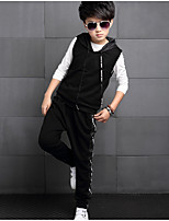 Boy's Casual/Daily Solid Clothing SetCotton Spring / Fall Black