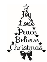Home Decor Art Vinyl Merry Christmas Tree Mural Decals Removable Wall Sticker Xmas Wreath Window Stickers