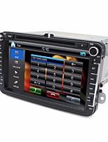 2 din reproductor de DVD del coche de 8 pulgadas para vw con 3G / wifi swc de navegación GPS USB BT FM RDS