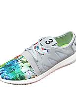Femme-Sport-Noir / Vert / Gris-Talon Plat-Confort / Bout Arrondi-Sneakers-Polyuréthane