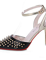 Women's Heels Spring / Summer / Fall Heels / Pointed Toe Leather Party & Evening / Dress Stiletto Heel Rivet