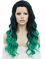 imstyle 24new прибытия зеленый ломбера синтетический парик фронта шнурка естественный черный корень