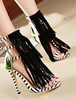 Women's Sandals Spring / Summer / Fall Comfort PU Outdoor Stiletto Heel Others Black Walking