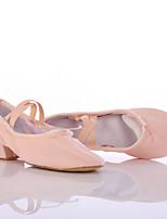 Customizable Women's Dance Shoes Canvas Canvas Latin / Dance Sneakers Split Sole Chunky Heel Indoor / Performance Black