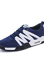 Черный Синий Серый-Мужской-Повседневный-Ткань-На плоской подошве-Удобная обувь-Кеды