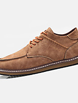 Men's Athletic Shoes Spring / Fall Comfort PU Casual Flat Heel  Brown / Gray / Khaki Others