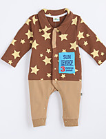 Girl's Casual/Daily Galaxy Overall & JumpsuitCotton Fall Brown