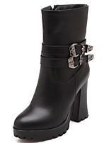 Mujer-Tacón Robusto-Tacones / Plataforma / Botas Anfibias / Cowboy / Botas de Nieve / Botines / Punta Redonda / Botas de Equitación /