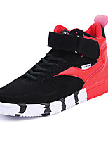 Men's Sneakers Spring / Fall Comfort Fabric Casual Flat Heel  Gray / Black and Red / Black and White Sneaker