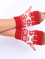 Women's Winter Wool Knitting Lovely Snow Fawn Gloves