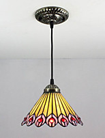 25W Pendant Light   Tiffany / Vintage Painting Feature for Mini Style Metal Living Room / Entry
