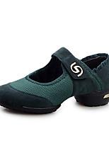 Для женщин-Дерматин / Ткань-Не персонализируемая(Черный / Зеленый / Красный) -Танцевальные кроссовки