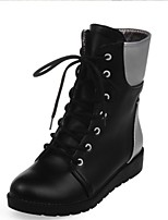 Women's Boots Fall / Winter Combat Boots PU Outdoor / Dress / Casual Flat Heel Others Black / White / Almond Others