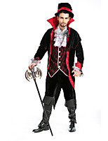 Cosplay Costumes / Party Costume Vampires Halloween Black Solid Terylene Coat / Top / Pants / More Accessories Halloween/Christmas/New Year