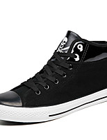 Running Shoes Men's Fashion Casual Shoes EU39-44 Hight-top Microfiber Board Flats Shoes Black