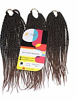 Senegal Twist Black Auburn 1b/30 Synthetic Hair Braids 12inch Kanekalon 81 Strands 125g  Multipal Pack for Full Heads