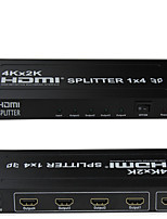 HDMI Splitter 1x4 4K*2K One HDMI Input Four HDMI Output Metal House Support Long Distance 4K Signal Output
