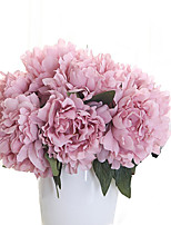 5PC Household Artificial Flowers Sitting Room Adornment  Flowers  Polyester Peony  Artificial Flowers