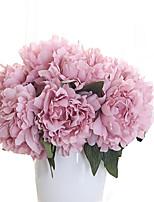 1 1 Ramo Poliéster Peônias Flor de Mesa Flores artificiais 27cm